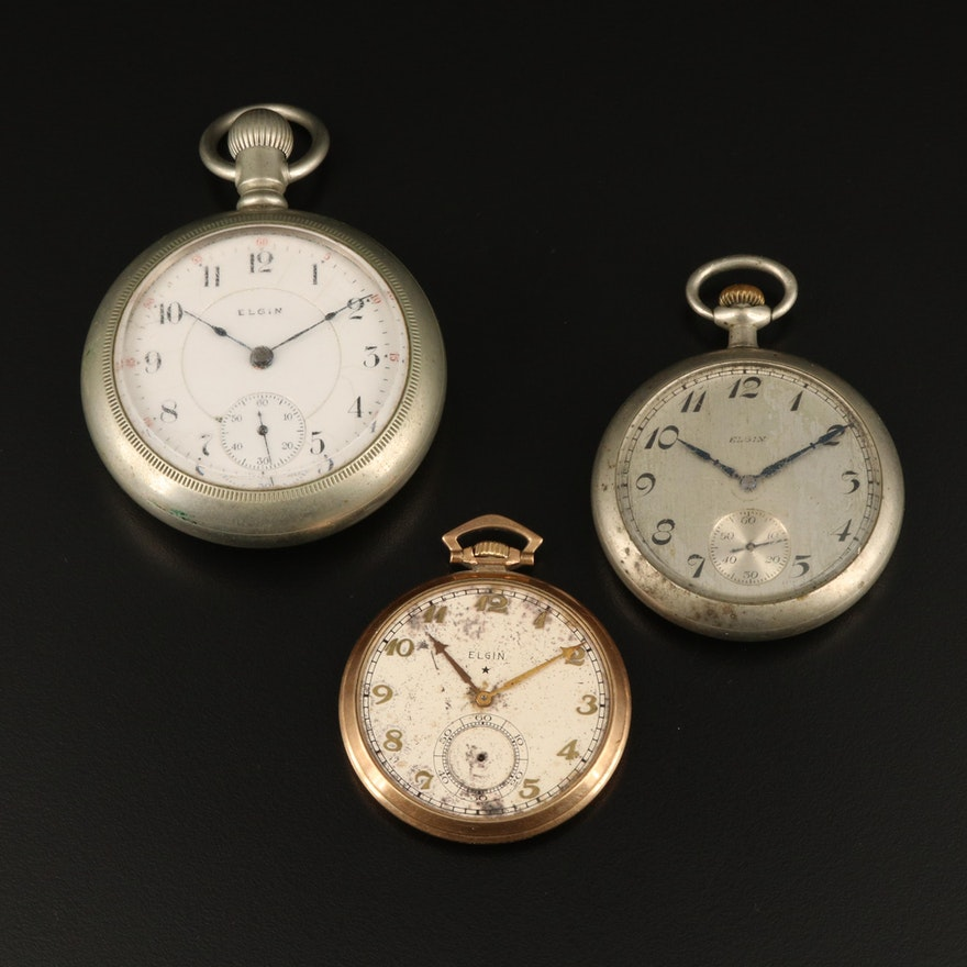 Trio of Elgin Pocket Watches
