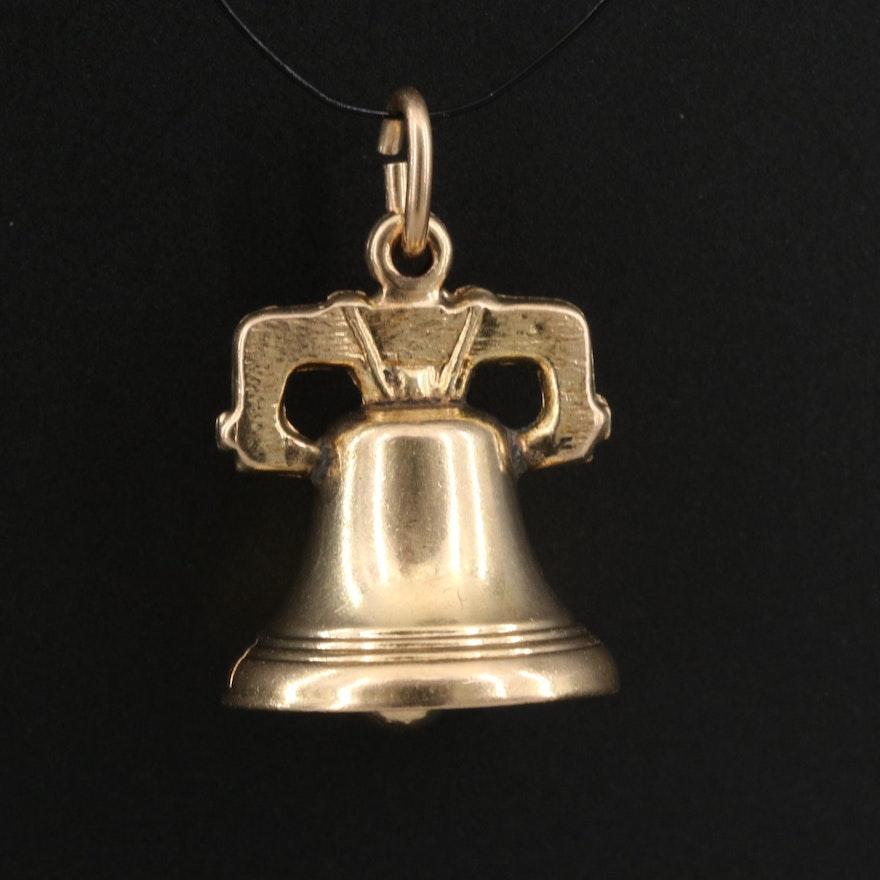14K Bell Pendant
