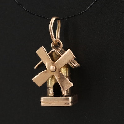 18K Articulated Windmill Pendant