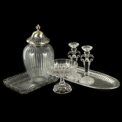Heisey, Anchor Hocking and Other Glass and Aluminum Table Accessories