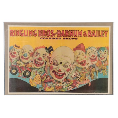 Offset Lithograph Circus Poster After Ringling Bros. and Barnum & Bailey