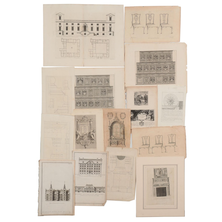 Industrial, Architectural and More Engravings, Late 19th to Early 20th Century