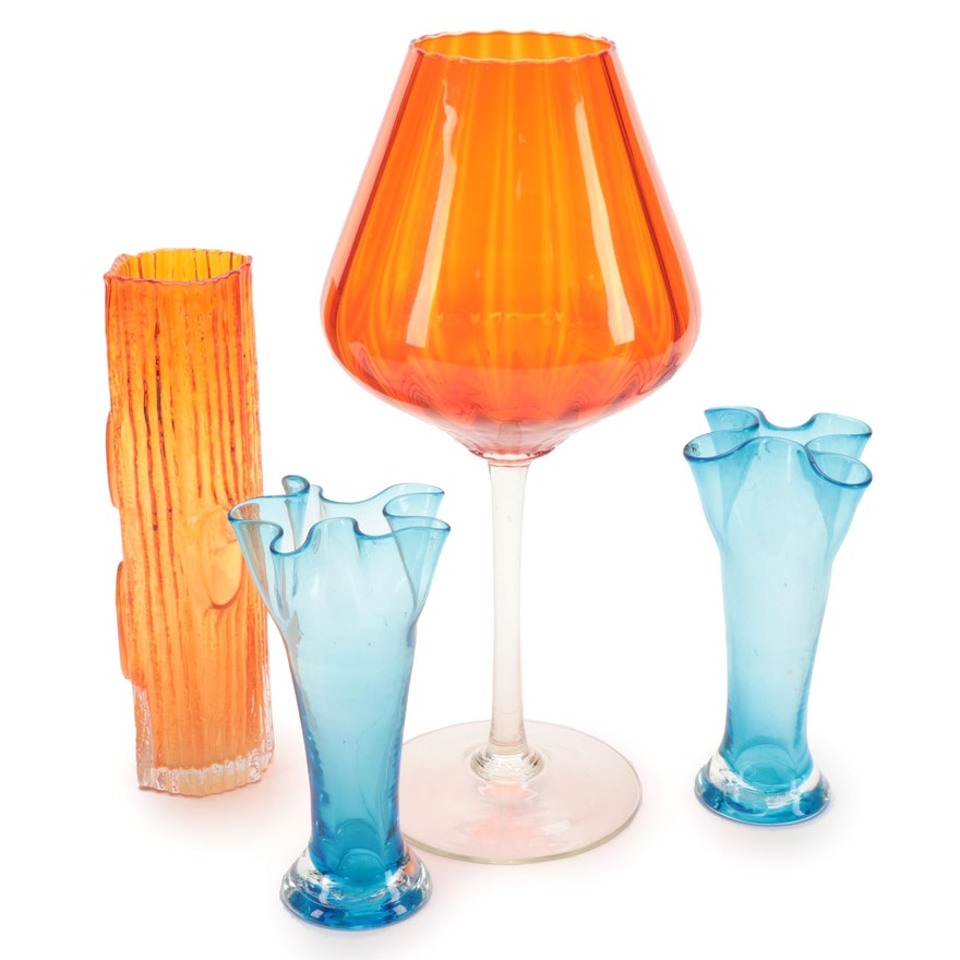 Kriess Corporation Art Glass Vases with Other Decorative Glass Items