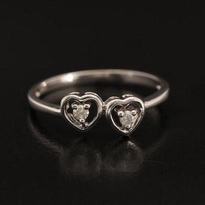 """10K Diamond Heart """"Promise"""" Ring"""