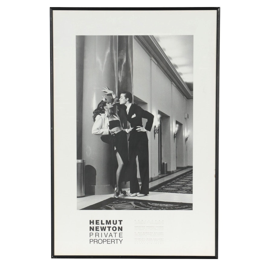 """Offset Lithograph Exhibition Poster after Helmut Newton """"Private Property,"""" 1985"""