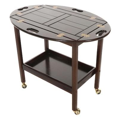 The Bombay Company Mahogany Butler Tray Bar Cart