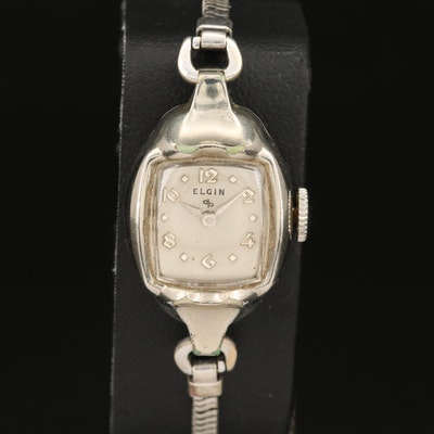 Vintage Elgin 10K Rolled Gold Plate Stem Wind Wristwatch