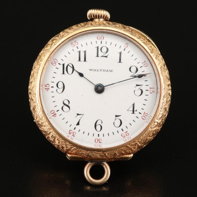 1901 Waltham 14K Pendant Pocket Watch