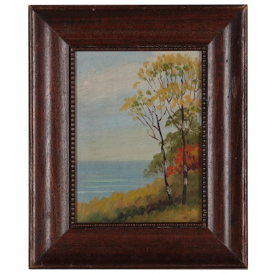 David Bell Landscape Oil Painting, Mid-20th Century