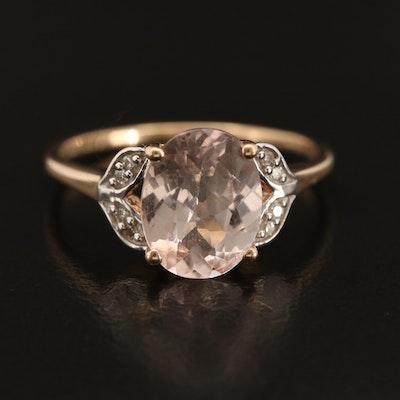 9K Danburite and Diamond Ring