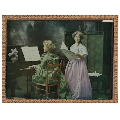 """Color Halftone """"The Rehearsal,"""" 1899"""