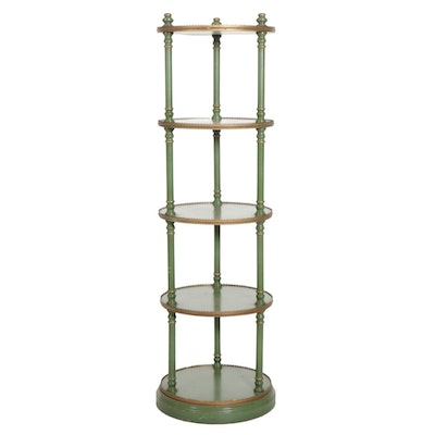 """""""Monaco Green"""" with Gold Trim Five-Tier Display Table"""