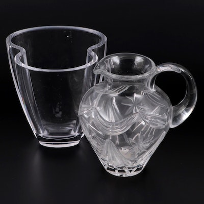 """Royal Doulton """"Broadway"""" Crystal Pitcher and Nachtmann Crystal Vase"""
