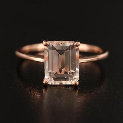 10K Rose Gold Danburite Solitaire Ring