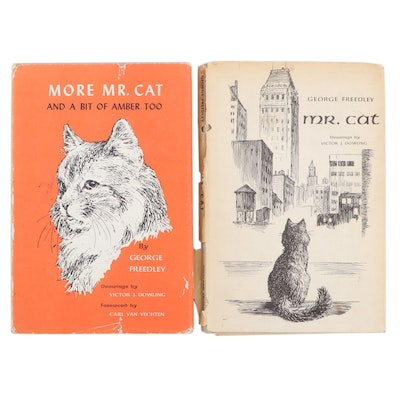 """First Editions """"Mr. Cat"""" and """"More Mr. Cat"""" by George Freedley, Mid-20th Century"""