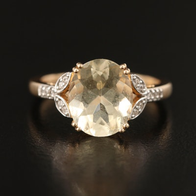 10K Labradorite and Topaz Ring
