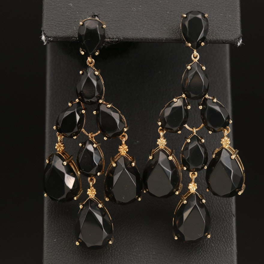 Sterling Silver Tiered Earrings