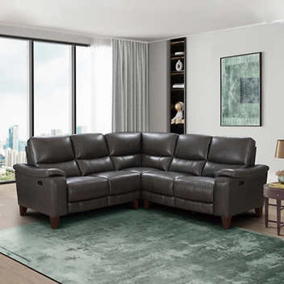 """Northridge """"Rizzo Heights"""" Leather Power Reclining Sectional"""