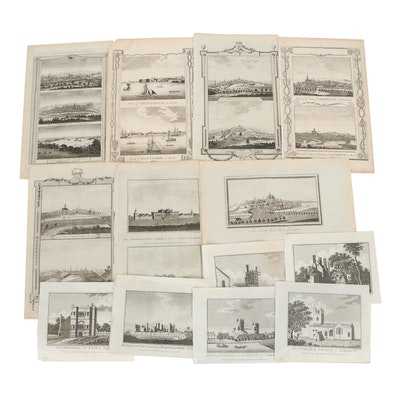Etchings of Castles and Cityscapes, Late 19th to Early 20th Century