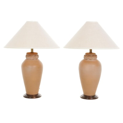 Frederick Cooper Pottery Lamps, Late 20th Century