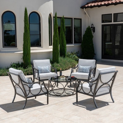 """Foremost """"Keller"""" Five-Piece Patio Chat Seating Set"""