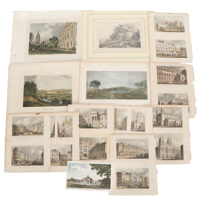 Hand-Colored Etchings after Various Artists, Circa 1900