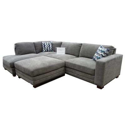 """Ontai """"Penelope"""" Fabric Sectional with Ottoman"""