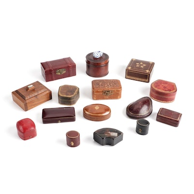 Leather and Wood Jewelry Boxes