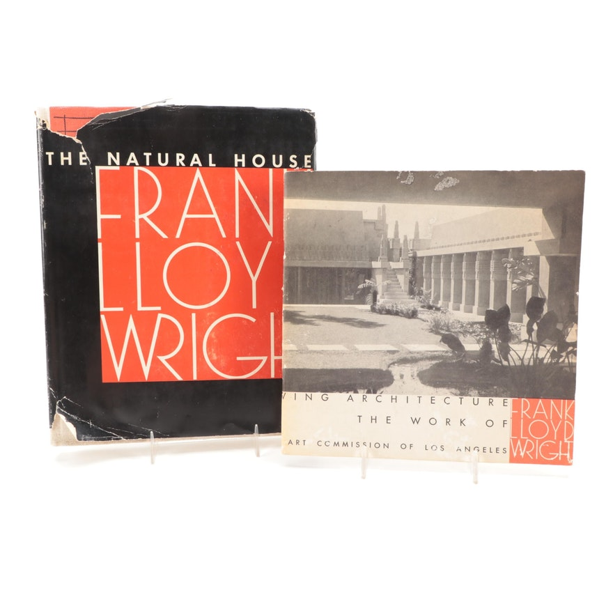"""First Edition """"The Natural House"""" by Frank Lloyd Wright and More"""