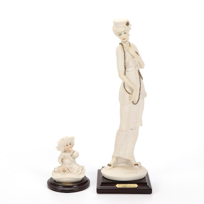 """Giuseppe Armani """"Quiet Please"""" and Other Resin Figurines, Late 20th Century"""