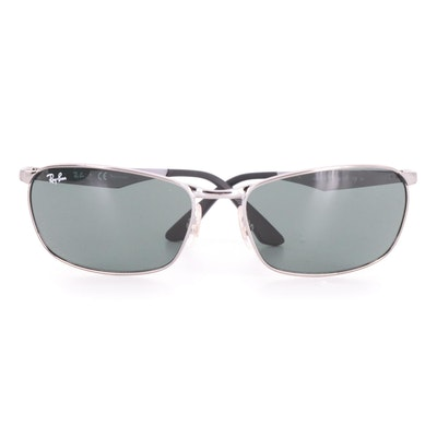 Ray-Ban RB3534 Metal Man Sunglasses with Case and Box