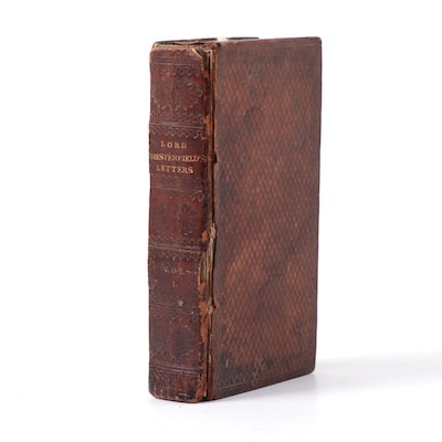 """""""Lord Chesterfield's Letters to his Son"""" Vol. I, Early 19th Century"""