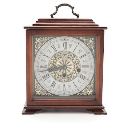 Linden Wood Cased Quartz Movement Converted Mantel Clock