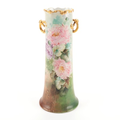 William Guérin & Co. Hand-Painted Porcelain Vase, Late 19th/ Early 20th Century