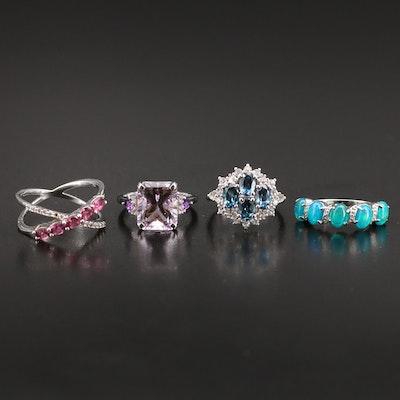 Sterling Opal and Gemstone Rings