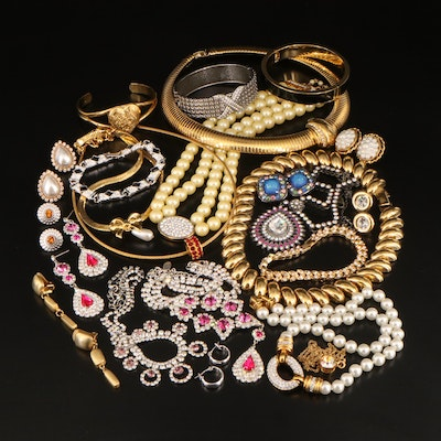 Costume Jewelry Including Joan Rivers and Rhinestone Accents