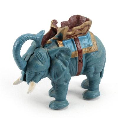 Mechanical Cast Iron Elephant Bank