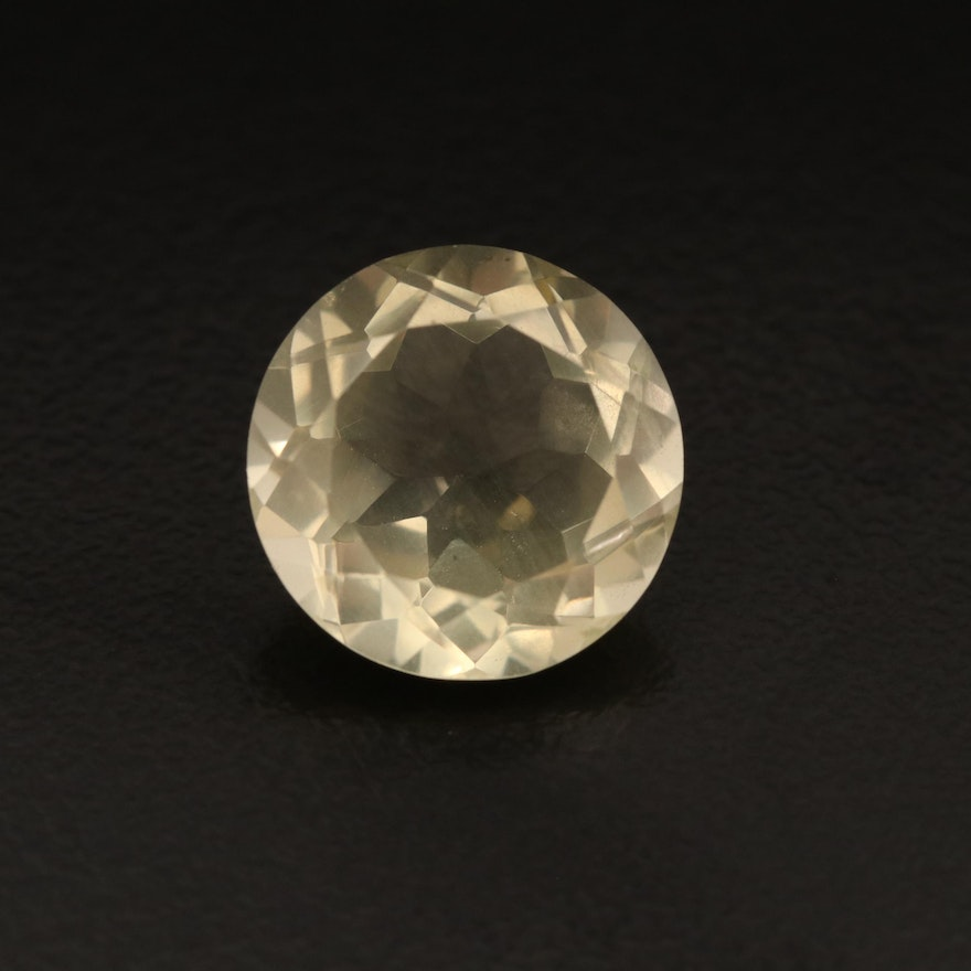 Loose 7.13 CT Round Faceted Citrine