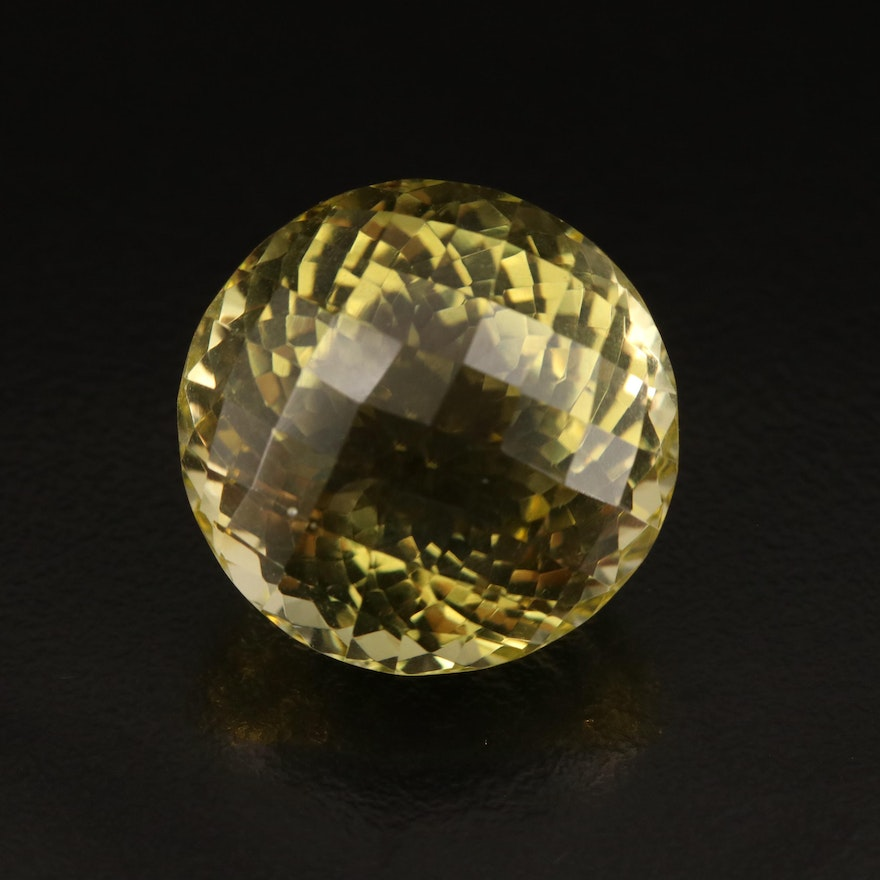 Loose 33.38 CT Round Faceted Citrine