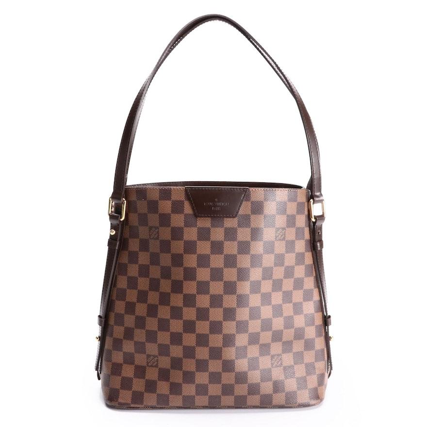 Louis Vuitton Cabas Rivington Bag GM in Damier Ebene Canvas