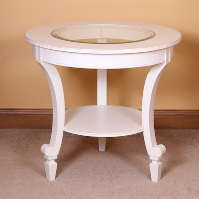 Stanley Furniture Off-White Round End Table