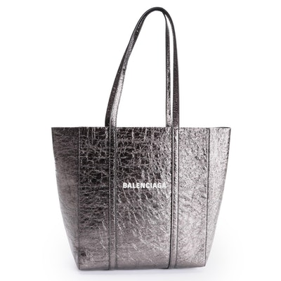 Balenciaga XS Everyday Tote Bag in Metallic Leather