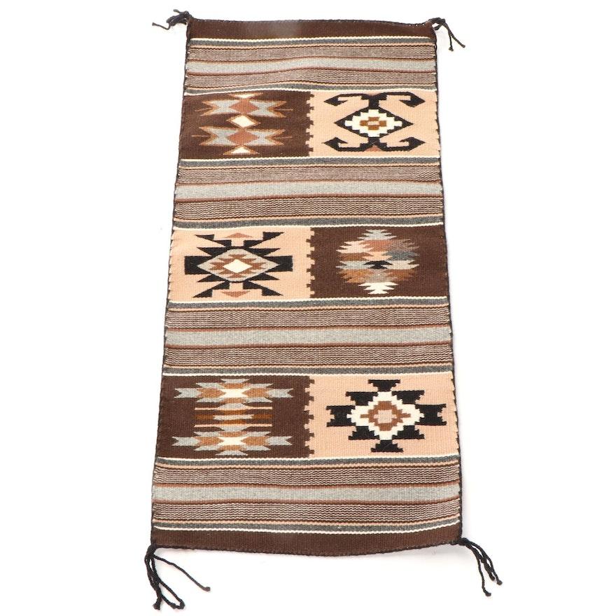 1'3 x 2'7 Handwoven Navajo Accent Rug
