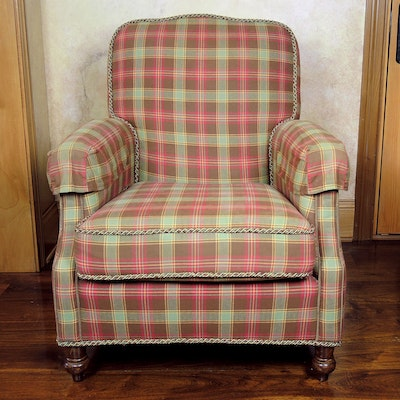 Wesley Hall Upholstered Armchair, Contemporary