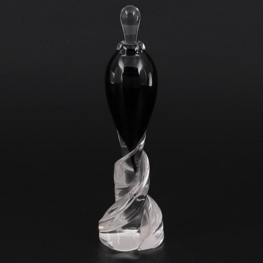 Matthew Buechner Art Glass Perfume Bottle, Late 20th Century