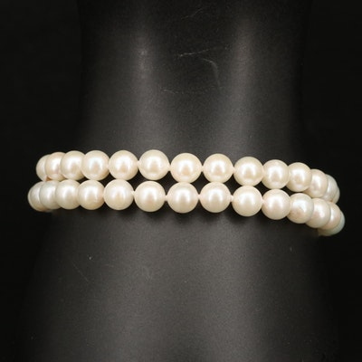 14K Pearl Double Strand Bracelet