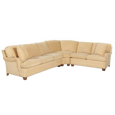"""Hancock & Moore """"Sinclair"""" Suede Upholstered Sectional Sofa"""