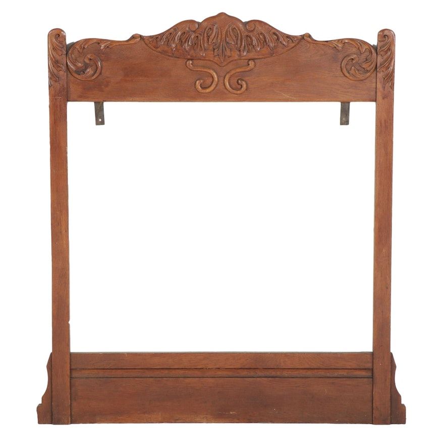 Late Victorian Carved Oak Mirror Frame, Late 19th to Early 20th Century