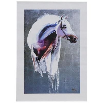 Vena Grebenshikov Giclée of Grey Horse, Late 20th Century