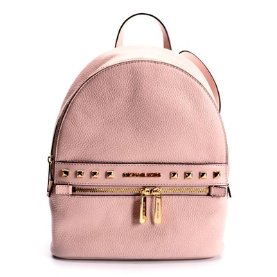 MICHAEL by Michael Kors Kenly Backpack Purse in Powder Blush Grained Leather